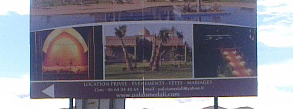 Publicité marrakech- fabricant panneaux chantier marrakech